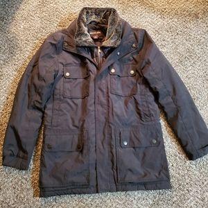 Michael Kors Black Faux Fur Collar Jacket Size M